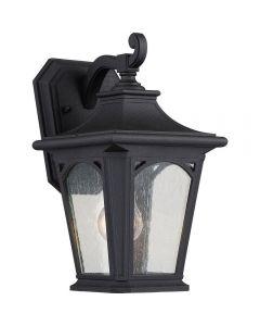 QZ/BEDFORD2/S Bedford 1 Light Small Wall Lantern Light In Mystic Black