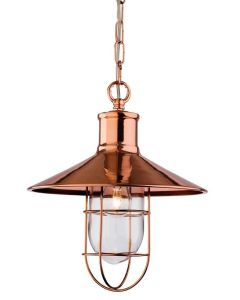 Firstlight 2306 Crescent 1 Light Hanging Ceiling Lantern in Copper