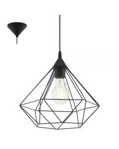 Eglo 94188 Tarbes 1 Light Ceiling Pendant Light In Black - Diameter: 325mm
