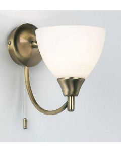 Endon 1805-1AN 1 Light Wall Light In Antique Brass