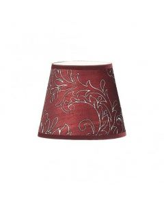 Patterned Burgandy Silk Shade