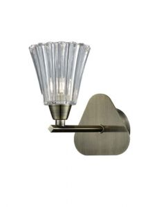 F2378-1 One Light Wall Light In Bronze Finish With Clear Glass Shade