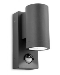 Firstlight 5939 Shelby LED Single Wall Light With PIR In Graphite Aluminium