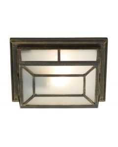 Dar TRE5254 Trent Outdoor Wall Light With Black Gold Finish