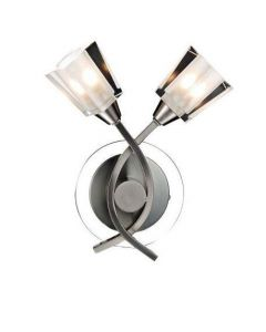 Dar AUS0946 Austin 2 Light Wall Light Satin Chrome
