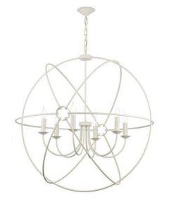 David Hunt Lighting ORB0633 Orb 6 Light Ceiling Pendant in Cream