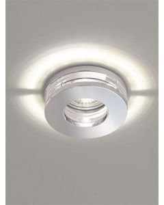 RF310 Recessed Round LED Downlight In Chrome With Crystal Glass Discs