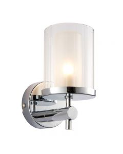 Endon 51885 Britton Wall Light with Glass Shade IP44