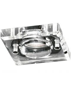 RF309 Chrome Finish Square Downlight With A Heavy Square Crystal Glass