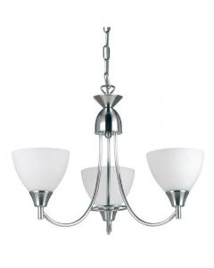 Endon 1805-3SC 3 Light Chandelier In Satin Chrome