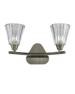 F2378-2 Two Light Wall Light In Bronze Finish With Clear Glass Shades