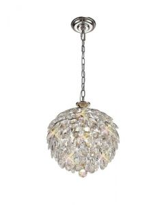 Diyas IL32800 Coniston 3 Light Ceiling Pendant In Polished Chrome
