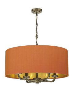 David Hunt Lighting SLO0400/GD Sloane Pendant with Orange Shade