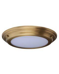 Elstead WELLAND/F AB Welland Medium Bathroom Flush Ceiling Light In Aged Brass