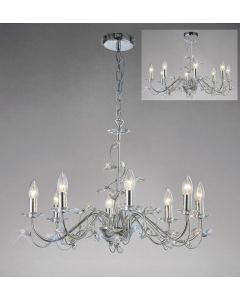 Diyas IL31218 Willow Ceiling Pendant Light in Polished Chrome