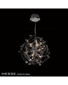 IL30170 Messe 12 Chrome And Crystal Ceiling Pendant