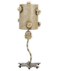 FB/LA FLEURETTE 1 Light Mottled Tan Table Lamp