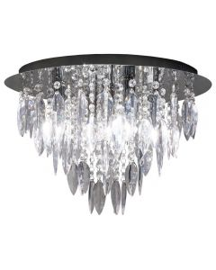 Dallas 5 Light Round Flush Ceiling Chandelier