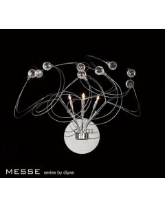 IL30173 Messe 3 Chrome And Crystal Wall Lamp