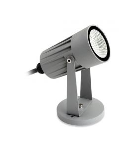 Firstlight 4907SI LED Outdoor Wall/Floor Spotlight In Silver - Optional Spike