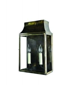 462B Medium Solid Brass Strathmore 2 Light Wall Lantern