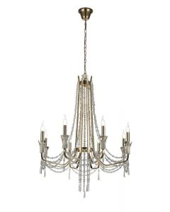 Diyas IL31754 Armand 8 Light Ceiling Pendant In French Gold