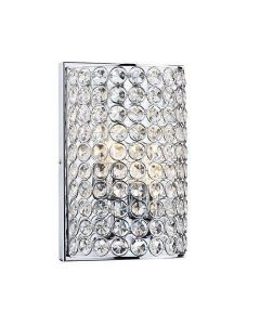 Dar FRO0950 Frost 2 Light Chrome And Crystal Wall Lamp