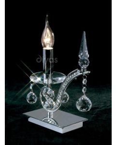 Diyas IL30010 Tara Single Table Lamp in Polished Chrome Finish