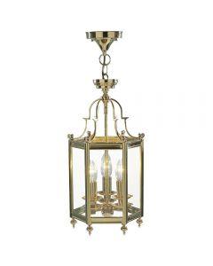 Dar MOO0340 Moorgate Polished Brass Lantern