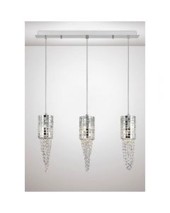 Diyas IL31625 Camden 3 Light Ceiling Bar Light In Polished Chrome