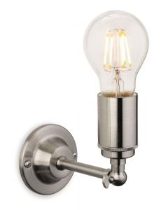 Firstlight 7650BS Indy 1 Light Wall Light In Brushed Steel