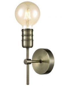 F2407-1 1 Light Wall Light In Antique Brass