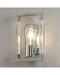 Diyas IL32784 Canto 1 Light Wall Light In Polished Nickel