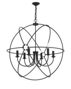 David Hunt Lighting ORB0622 Orb 6 Light Ceiling Pendant in Black
