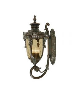 Elstead PH1/LOB Philadelphia 3 Light Large Up Wall Lantern Light In Old Bronze