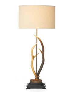 David Hunt Lighting ANT4229 Antler 1 Light Table Lamp With Rustic Finish