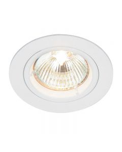 Saxby 52331 Cast Fixed Recessed Downlight in White Finish