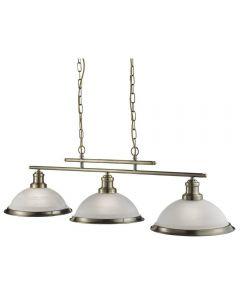 Searchlight 2683-3AB Bistro 3 Light Ceiling Bar Pendant Light Antique Brass