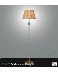 IL30620 Elena Gold And Crystal Cloth Floor Lamp Base Only