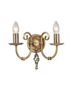 Elstead ART2 AGD BRASS Artisan 2 Light Wall Light In Aged Brass