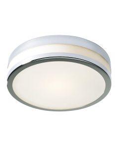 Dar CYR5050 Cyro Large Flush Chrome Bathroom Ceiling Light IP44 Rated