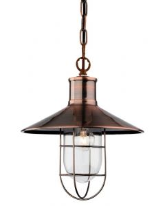 Firstlight 2306 Crescent 1 Light Ceiling Lantern in Antique Copper