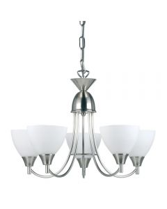 Endon 1805-5SC 5 Light Chandelier In Satin Chrome