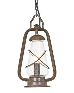 Elstead MINERS CHAIN wrought iron outside chain lantern