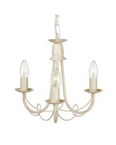 Elstead MN3 IV/GLD Minster 3 Light Ceiling Chandelier  In Ivory/Gold - Fitting Only