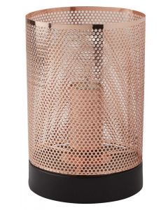 Modern Retro/Vintage Black and Copper Mesh Table lamp