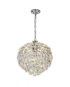 Diyas IL32801 Coniston 6 Light Ceiling Pendant In Polished Chrome