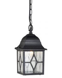 Traditional Black Outdoor Hanging Porch Lantern In Aluminium