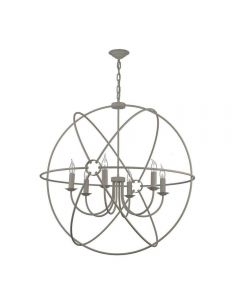 David Hunt Lighting ORB0639 Orb 6 Light Ceiling Pendant in Ash Grey