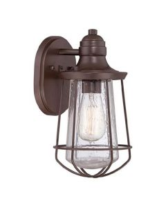 Elstead QZ/MARINE/S Marine 1 Light Small Wall Lantern Light In Western Bronze